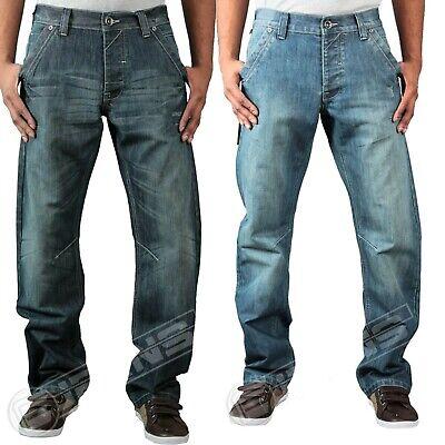 Da Uomo Enzo Ez156 Ez157 Jeans Gamba Dritta Pantaloni In Denim Casual Tg 28-42-mostra Il Titolo Originale