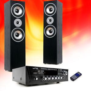 Hifi-Home-Cinema-Systeme-de-Musique-Bluetooth-USB-Sd-MP3-Amplificateur-Noir-Big