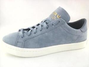 NWOB ADIDAS Sky Blue Suede BZ0431 Court Vantage SNEAKERS Shoes US 10.5 EU 44 2/3