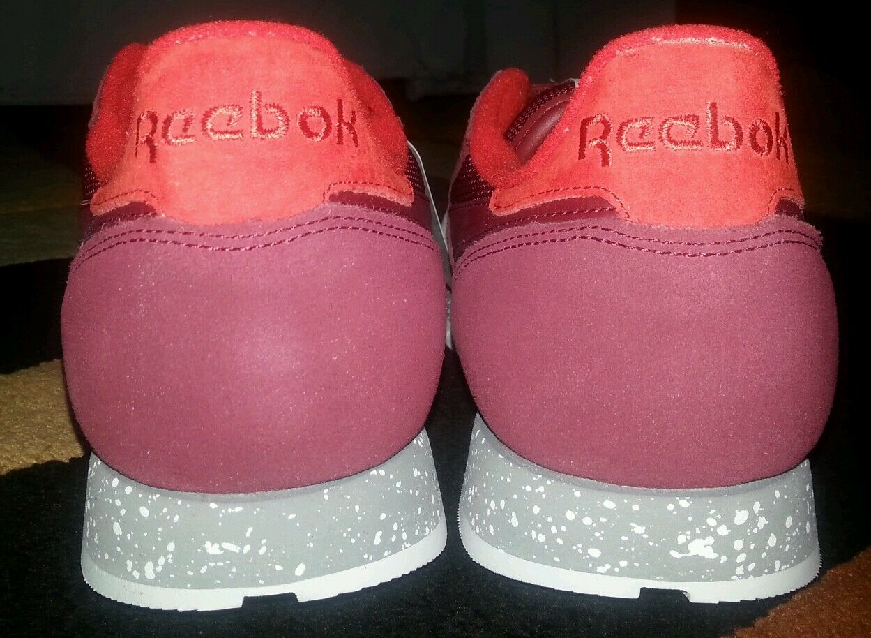 Reebok Classic Leather SM Burgundy Size 11 or 11.5 Sz 2016 12 for sale  online  c1425fa03