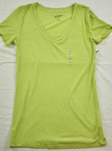 9383844a536 women s Arizona Jeans co long top size medium green short sleeve v ...