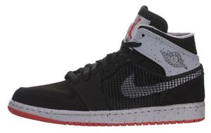 f9266ebb674 Nike Mens Air Jordan 1 Retro  89 Black Red-Cement 599873-003 Size 10 ...