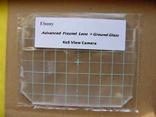 New Ebony 4x5 Camera Fresnel Lens + Ground Glass-Best quality