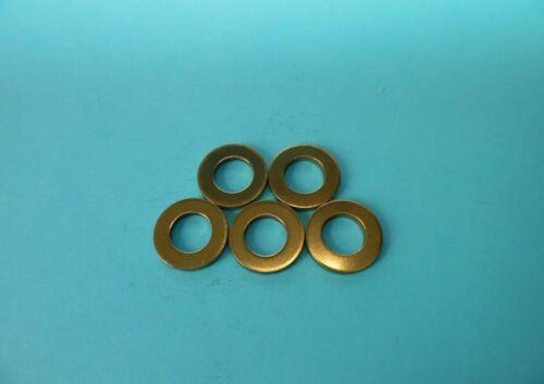 25 Unterlegscheiben DIN 125 Messing M 5,3 mm M5