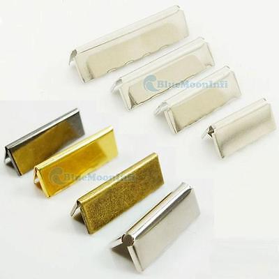 "Nickel Belt Buckle End Tip Webbing Tag 3/4"" 1"" 1.25"" 1.5"" 19mm 25mm 32mm 38mm BB"