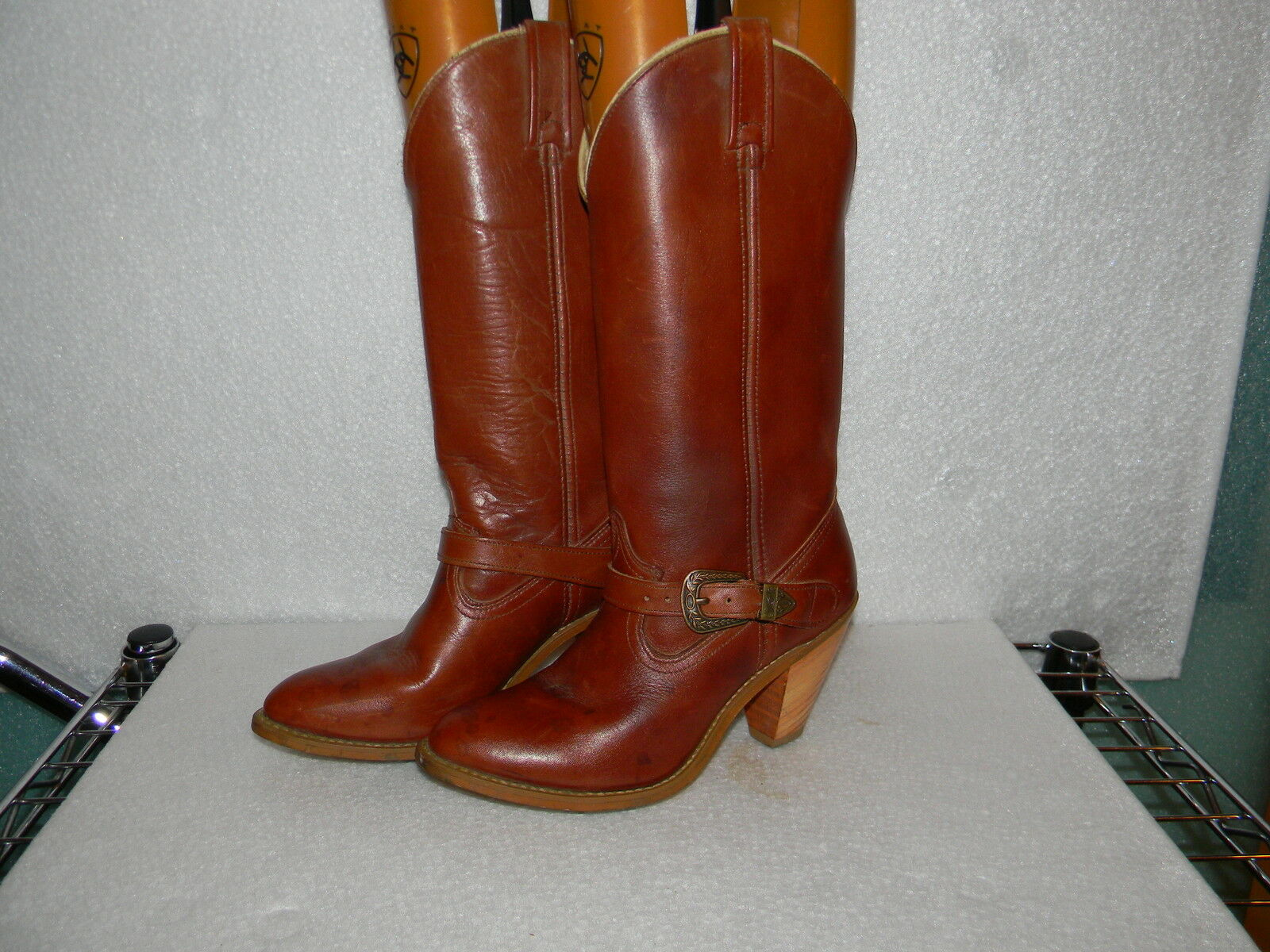 VINTAGE ACME BOOTS 6.5 WESTERN BOOTS 6.5 M COWBOY BOOTS 6.5 LEATHER BOOTS 6.5