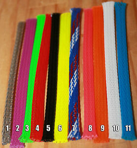 premium braided expandable flex sleeve wiring harness loom flexable rh ebay com wiring loom harness adhesive cloth fabric tape wire harness looming machine