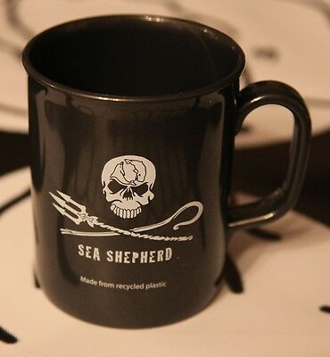 """Sea Shepherd """"Non Chip"""" Mugs made from recycled plastic Jolly Roger ."""