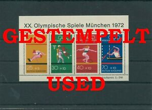 Germany-Federal-Frg-vintage-yearset-1972-Block-8-Postmarked-Used-More-Sh-Shop