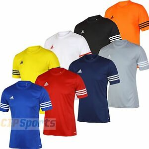 adidas-Mens-Entrada-climalite-Training-T-Shirt-Tee-Football-Jersey-Sports-Shirt