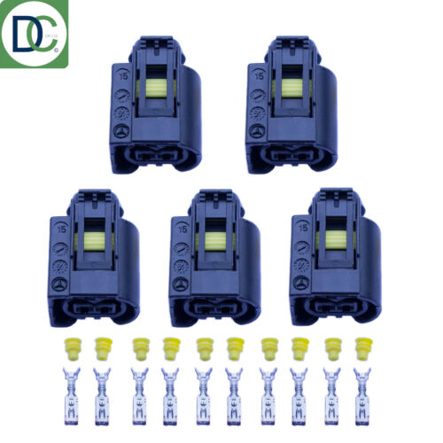 5 x ORIGINALI MERCEDES CLS Diesel Iniettori Connettore a Spina Bosch Common Rail