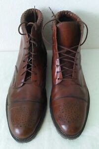 Great-ZODIAC-DRAKE-men-039-s-Lace-up-ankle-boots-brown-leather-Size-13-D