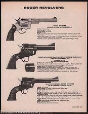 1988 RUGER Redhawk, Blackhawk Convertible .45 & 38 Carbine Revolver AD