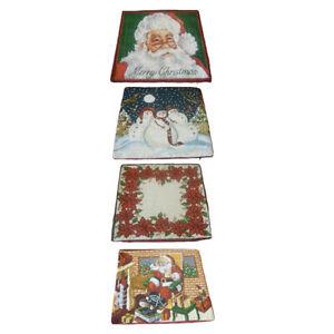 Christmas-Pillow-Case-Glitter-Polyester-Sofa-Throw-Cushion-Cover-Home-Decor-LA