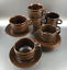 Set-Of-4-Wedgwood-Mid-Century-Stoneware-Cups-and-Saucers-Brown-Pennine-England thumbnail 4