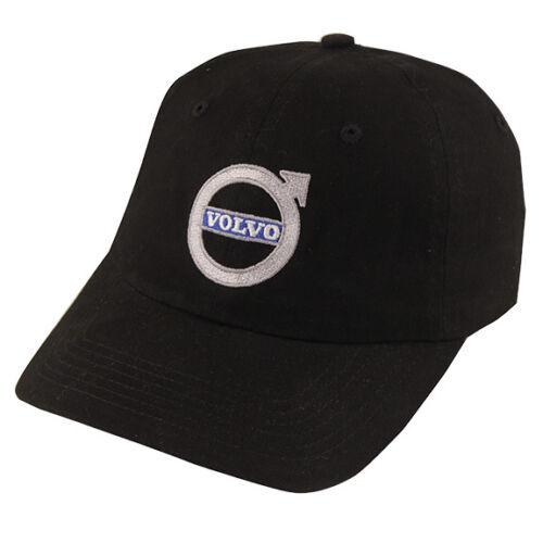 GENUINE VOLVO LICENSED BASEBALL CAP BLACK WITH IRON MARK LOGO