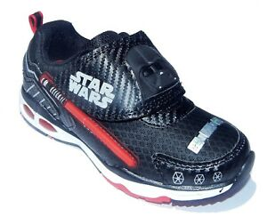 6c8a337ecb5e DARTH VADER STAR WARS Black Light-Up Sneakers Shoes Lights NWT Boys ...