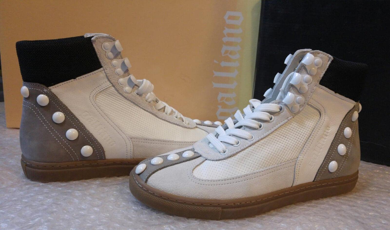 Galliano  diseñador para mujer 100% Cuero Deportivos Zapatillas Tamaño 3UK (36EU)