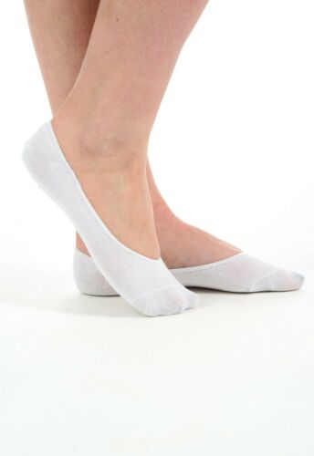 New Women 100/% Cotton Invisible Shoe Liner Socks Pair Set of 3 6 9 12 .UK 6-11