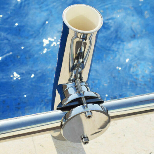 "1PC Boat Stainless Steel Fishing Rod Holder Clamp-on for Rail Mount 1-1//4/"" to 2/"""