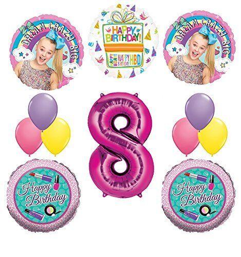 JoJo Siwa Party Supplies Dream Crazy Big 8th Birthday Balloon Bouquet For Sale Online