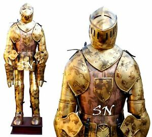 Details about Medieval Knight Suit Of Armor Full Body Armor Suit Helmet  Medieval Knight Crusad