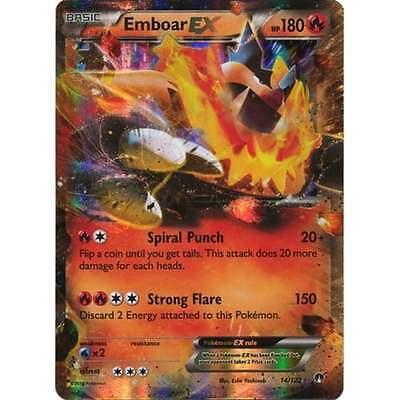 Ultra Rare - - XY BreakPoint 14//122 NM-Mint!!! x1 Emboar EX