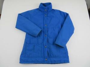 Vtg-REI-Women-039-s-Blue-Goretex-Waterproof-Rain-Insulated-Jacket-Medium-Hiking-Coat