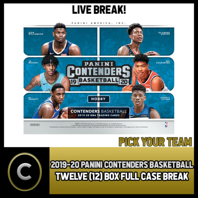2019-20 PANINI CONTENDERS 12 BOX (FULL CASE) BREAK #B351 - PICK YOUR TEAM