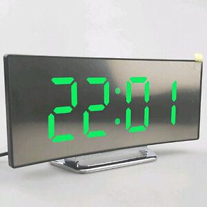 Alarm-Clock-Large-Digital-LED-Display-Portable-Modern-Battery-Operated-Mirror