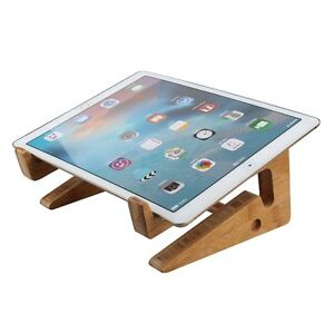 Table mount holder stand for tablet laptop notebook macbook ebay - Protable Apple Macbook Wood Stand Holder Ultra Wooden