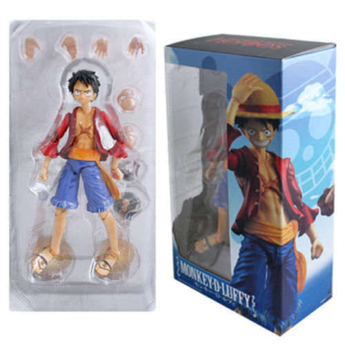 PVC Action Figure Toy  Anime Figma One Piece Straw Hat Monkey D Luffy Figurine