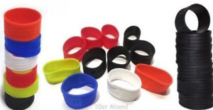 3 x Pro's Pro Racket Grip Finishing Rings - Choice Of Colours - Free P&P