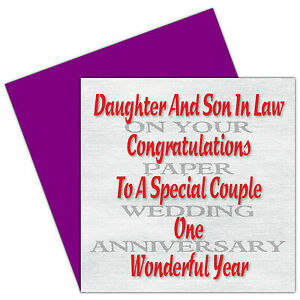 Daughter Son In Law 1st 30th Years On Your Wedding Anniversary