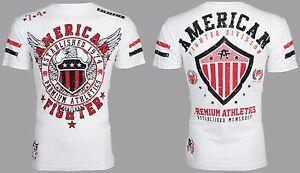 AMERICAN FIGHTER Mens T-Shirt EXCELSIOR Eagle WHITE Athletic Biker Gym UFC $40