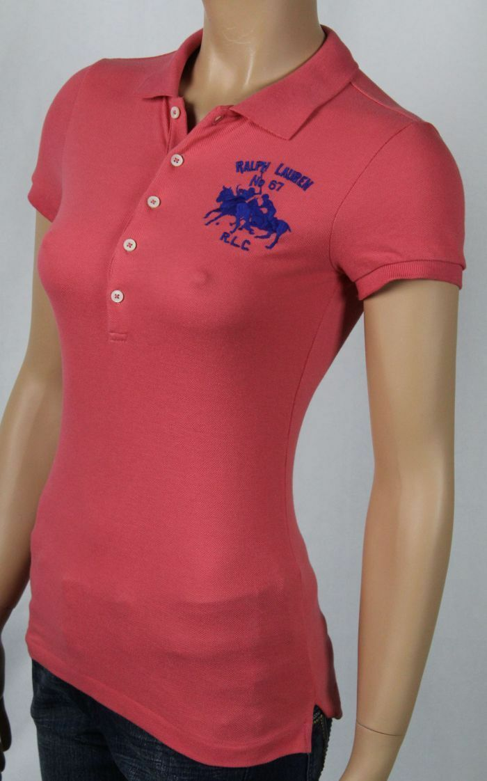 Ralph Lauren Red Salmon Big Pony Match Polo Shirt NWT