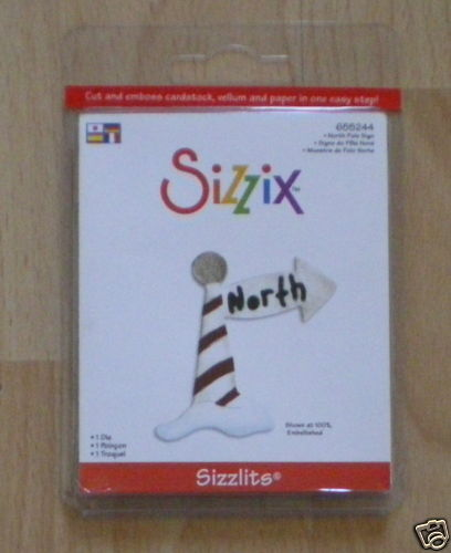 Sizzix Sizzlits Die NORTH POLE SIGN 655244 Christmas Approx 5cm x 5cm