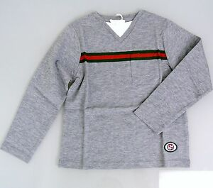 08a4f4f32b2 New Authentic Gucci Long Sleeve T-Shirt Top w GRG Web Interlocking G ...
