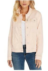 Buffalo-David-Bitton-Woman-Pink-Knit-Denim-Jacket-Size-L-New-With-Tags-FREE-SHIP