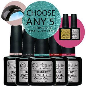 QUTIQUE-Professional-Gel-Nail-Polish-Colour-Kit-Set-inc-LED-Lamp-ANY-5-Colours