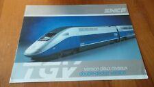 SNCF -  PLAQUETTE TGV VERSION 2 NIVEAUX