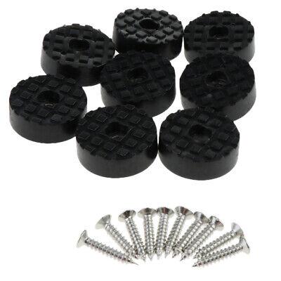 24x24mm Anti-Rutsch Gummi Fuß Erhöhung Gummifuß Möbelfüße 8 stk