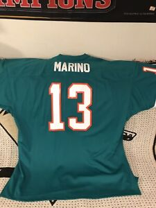 premium selection a9fc5 85cdd Details about Miami Dolphins Dan Marino Mitchell & Ness Throwback Jersey  Size 60 Green