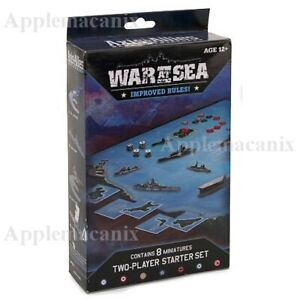 NEW-SEALED-Axis-amp-Allies-Miniatures-War-at-Sea-Two-Player-Starter-Set-WWII-Ships