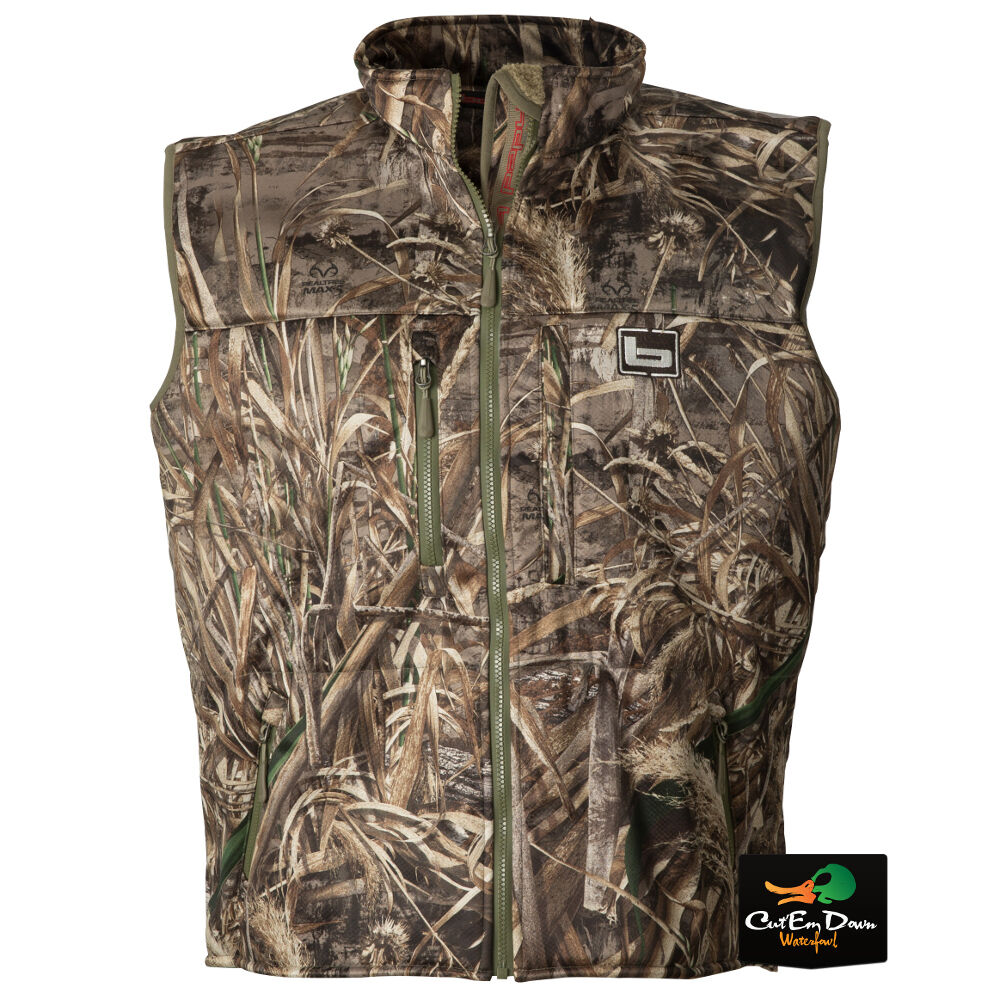 BANDED GEAR ATCHAFALAYA HUNTING VEST WIND PROOF  FLEECE LINED MAX-5 CAMO SMALL