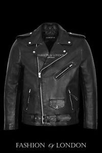 Hombre Ghost Rider Negro Metal PINCHOS Moto Chaqueta biker