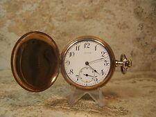 1912 Longines 15 Jewel 3 Adj 12s Gold Filled Hunter Case Pocket Watch...Running
