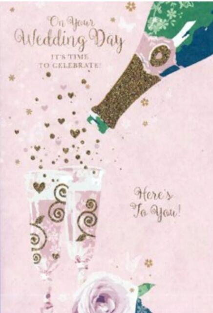 On Your Wedding Day Card~ Pretty ~ Modern ~ Celebration~ Love~ Free P&P
