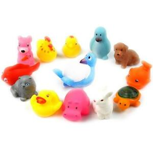 2017-Cute-Soft-Rubber-Float-Sqeeze-Sound-Baby-Wash-Bath-Play-Animals-Toys-new-L2