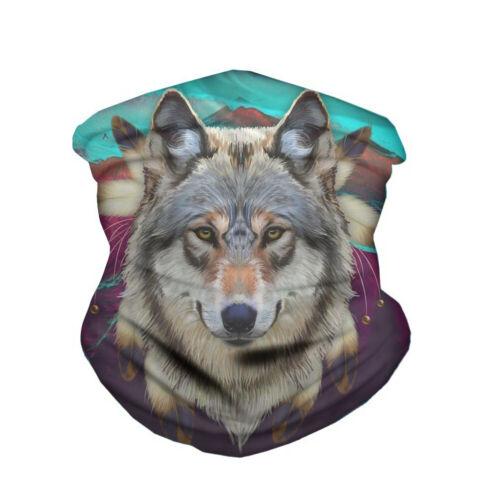 Magic Headscarf Bicycle Bandana Anti-Dust Face Scarf Neck Gaiter Wolf Print Cute